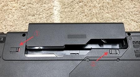 Lenovo G570 SSD SSD換装 バッテリー